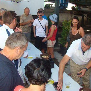 courtyard tasting group